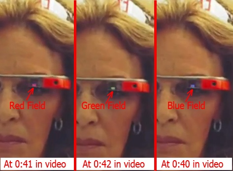 Google Glass funzionamento del display LCOS